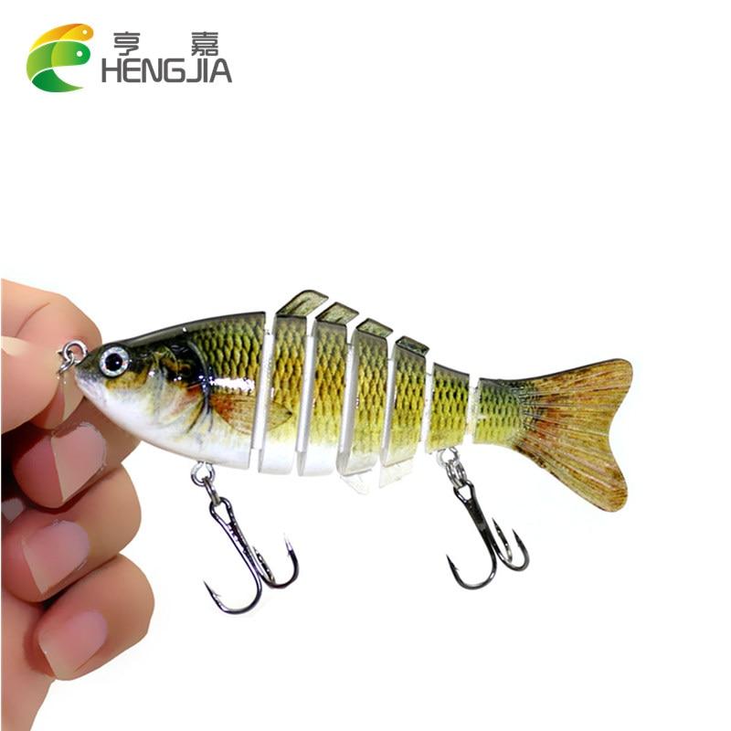 HENGJIA 1PC 7 Segment Swimbait Fishing Wobbler Lifelike Fishing Lure Crankbait Isca Artificial Hard Bait 10cm 15g Fishing tackle