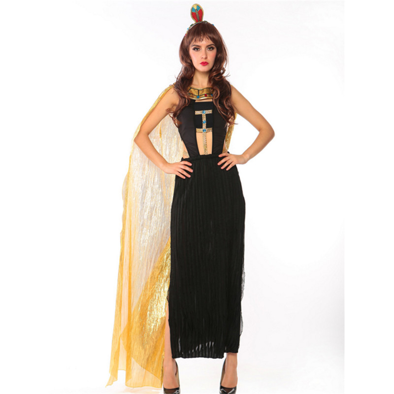 high quality black cleopatra Party Dress Greek Goddess Cosplay Costumes Egypt Roman Princess Athena clothing Halloween for Women