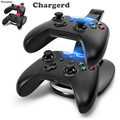 LED Dual Charging Dock USB Fast Charging Adapter Stand Station For X  BOX ONE Black Gaming Controller