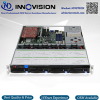 Stable Huge Storage 4 Bays 1u Hotswap Rack NVR NAS Server Chassis S16504