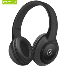 40 hours play time QCY J1 Bluetooth 3D stereo headphones wireless headset 3.5 mm AUX TF card headphone over the Ear with MIC