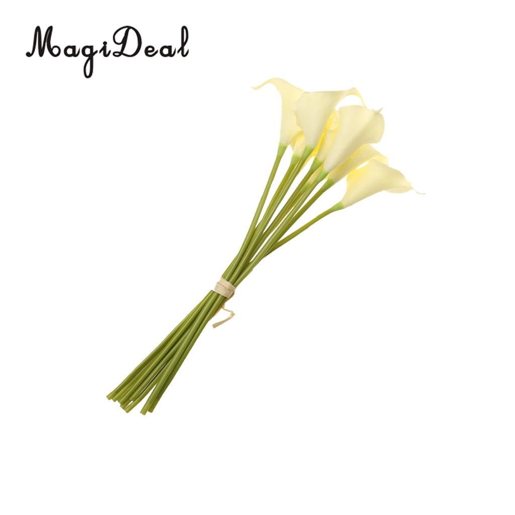 Magideal 9xpu Artificial Flower Calla Lily Bouquet Wedding Floral