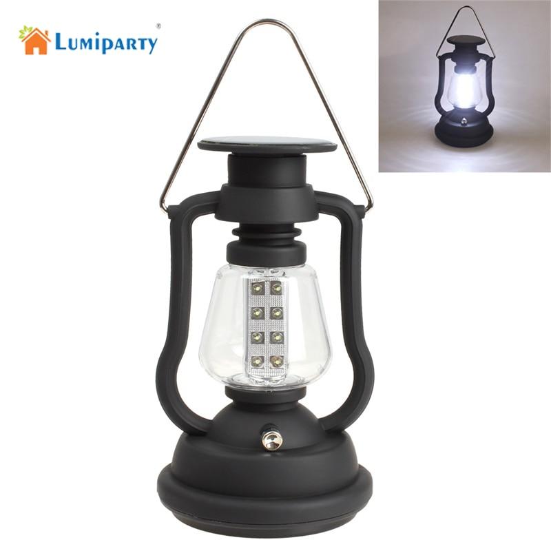 Lumiparty Portable night light camping Dynamo solar light Hand Crank Manual Charge emergency light lantern outdoor lighting цена