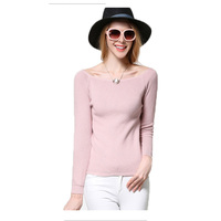 Women Slash Neck Sweet Autumn Winter Sweaters 2017 New Pullovers Casual Full Sleeves Office Ladies Regular Fashion Femme Tops