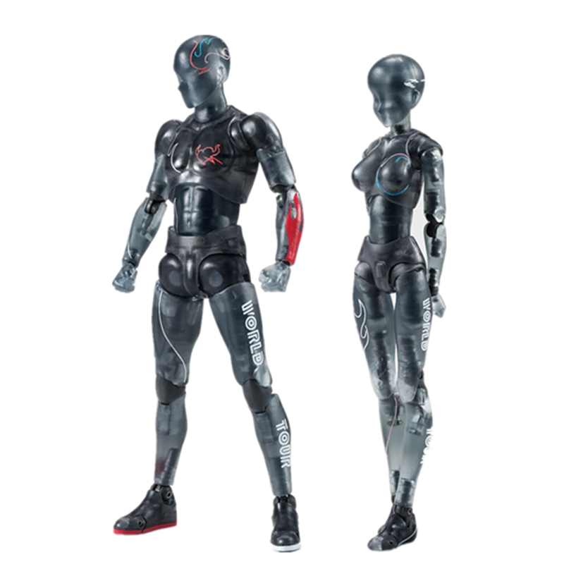15cm SHF Figma Male Female Movable body chan joint figure BODY KUN / BODY CHAN DX SET PVC Action Figure Collectible Model Toy(China)