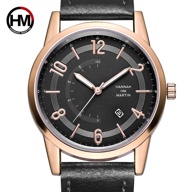 2018 Men Watches Business Big Dial PU Leather Band Quartz Male Clock Wrist Watch Relogio Masculino