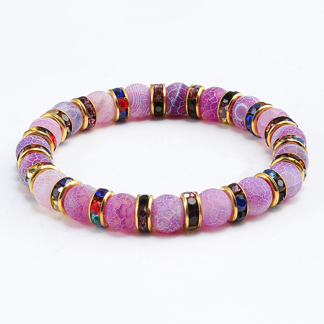 Purple Crystal Chakra Yoga Bracelet