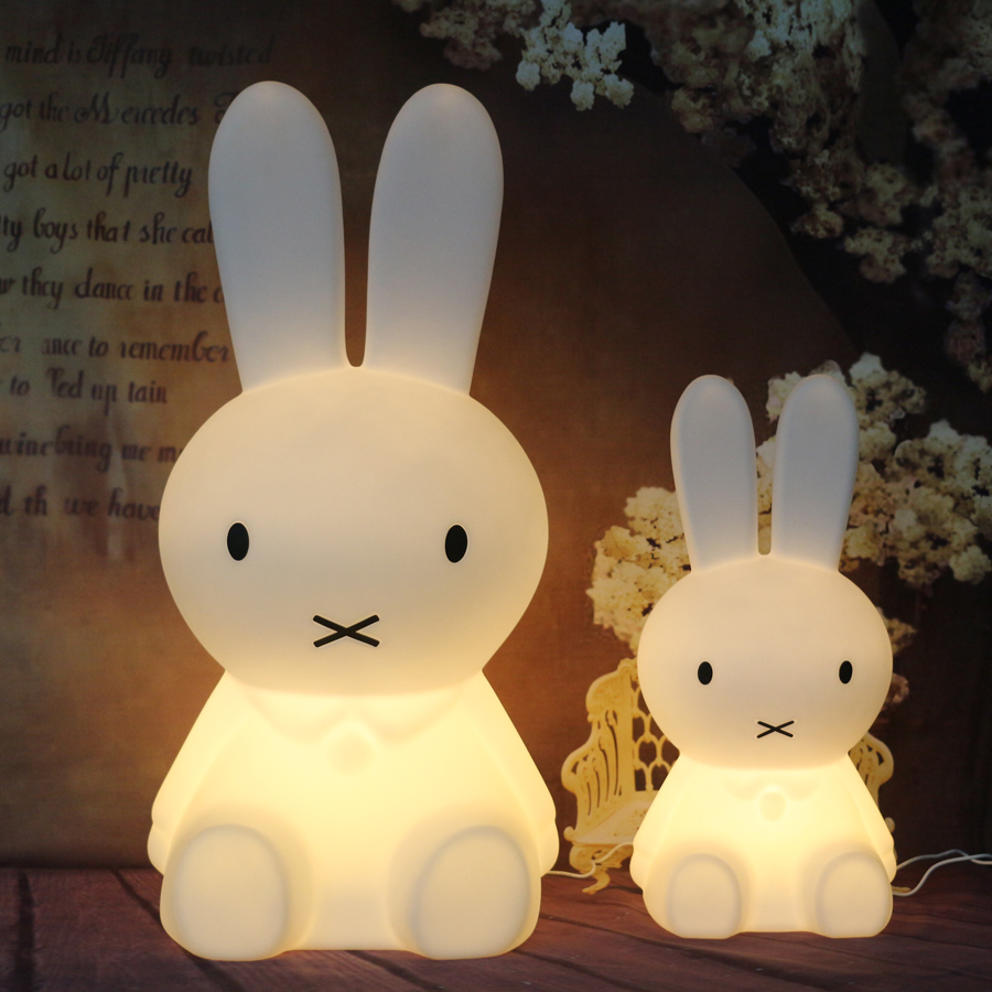 Rabbit Led Table Lamp Light for Baby Children Kids Gift Bedside Desk Light Animal Cartoon Decorative Lighting Table Lamp beiaidi 7 color usb rechargeable rabbit led night light dimmable animal cartoon light with remote baby kids christmas gift lamp