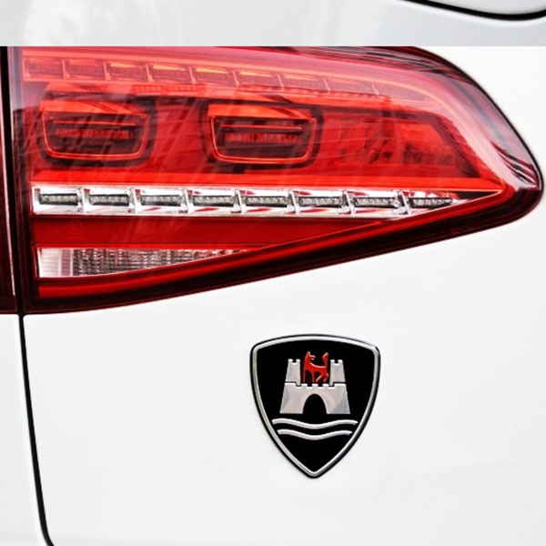 Car Sticker Emblem Badge For VW Golf Sagitar CC Wolfsburg Al