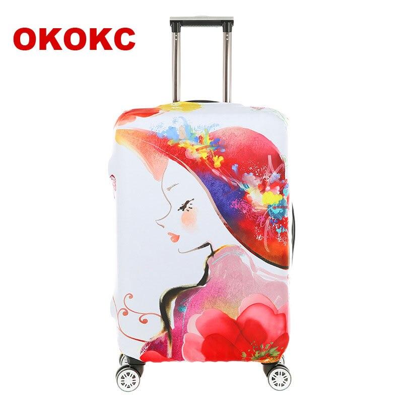 OKOKC путешествия Чемодан Защитные чехлы для 18-30 дюймов чемодан эластичное Чемодан крышка чемоданы, дорожные аксессуары