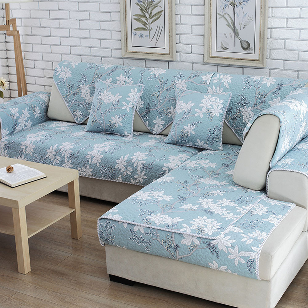 Polyesteru0026Cotton Fabric Sofa Cover European Style Slip Resistant Sofa  Armrest Towel Couch Cover For Home