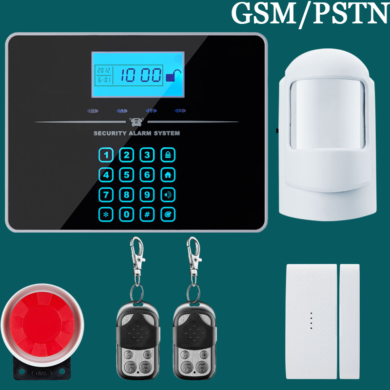 ФОТО Wireless Wired Alarm Systems Security Home LCD speaker Keyboard Sensor GSM PSTN Alarm System Russian english voice
