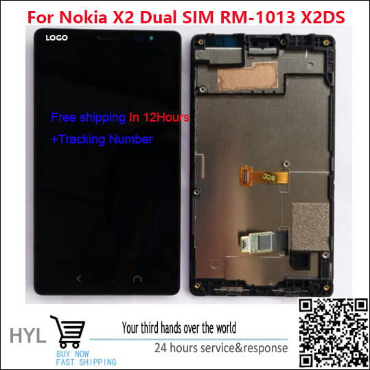 100 Original New For Nokia X2 Dual SIM RM 1013 X2DS LCD display screen touch screen