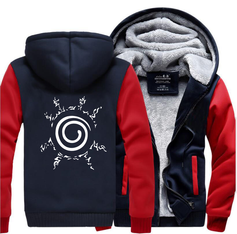 HAMPSON LANQE Sweatshirts Japan Anime Naruto Uzumaki Harajuku Sweatshirt Men 2019 Winter Warm Fleece Thick Hoodies Mens