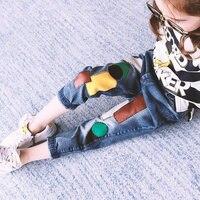 Trẻ em Quần Lỗ Hỏng Kids Jeans Quần cho Nam Nữ Trẻ Em quần Denim Quần Áo cho Cô Gái 8 9 10 11 12 15 năm
