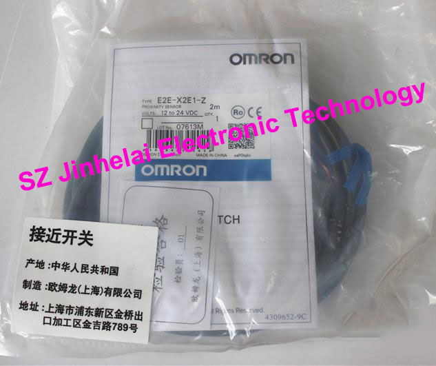 100% New and original  E2E-X2E1-Z  OMRON  Proximity switch  12-24VDC  2M [zob] new original omron shanghai omron proximity switch e2e x18me1 2m 2pcs lot