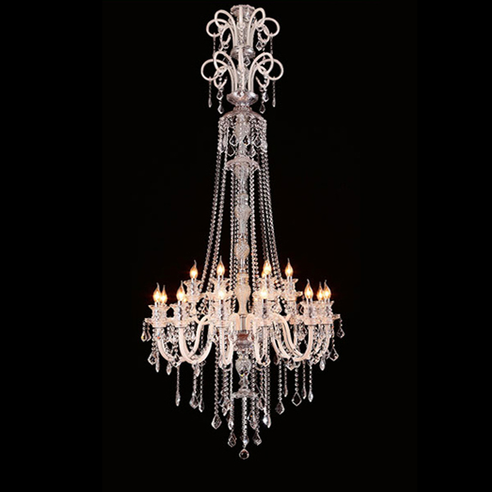 Large crystal chandelier 18 Arms Luxury crystal light Fashion chandelier crystal light Modern Large chandeliers staircase lamp
