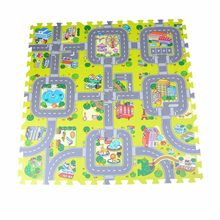 9pcs/set City Road Garden EVA Foam puzzle Play Mat game sport Mat Rug Floor Soft Safe Crawling Carpets For Kids baby toy(China)