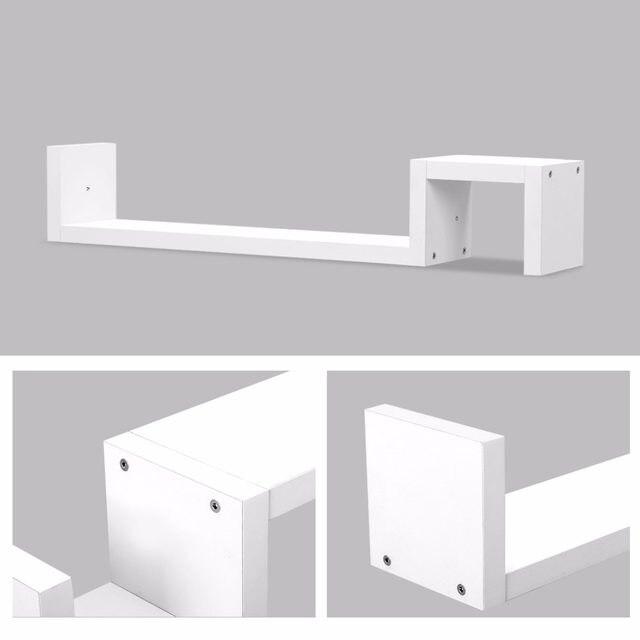 Online Finether Modern Creative S Shaped Floating Wall Mount Shelf Bookshelf Display Rack Ledge Storage Holders Racks Es In Stock Aliexpress Mobile