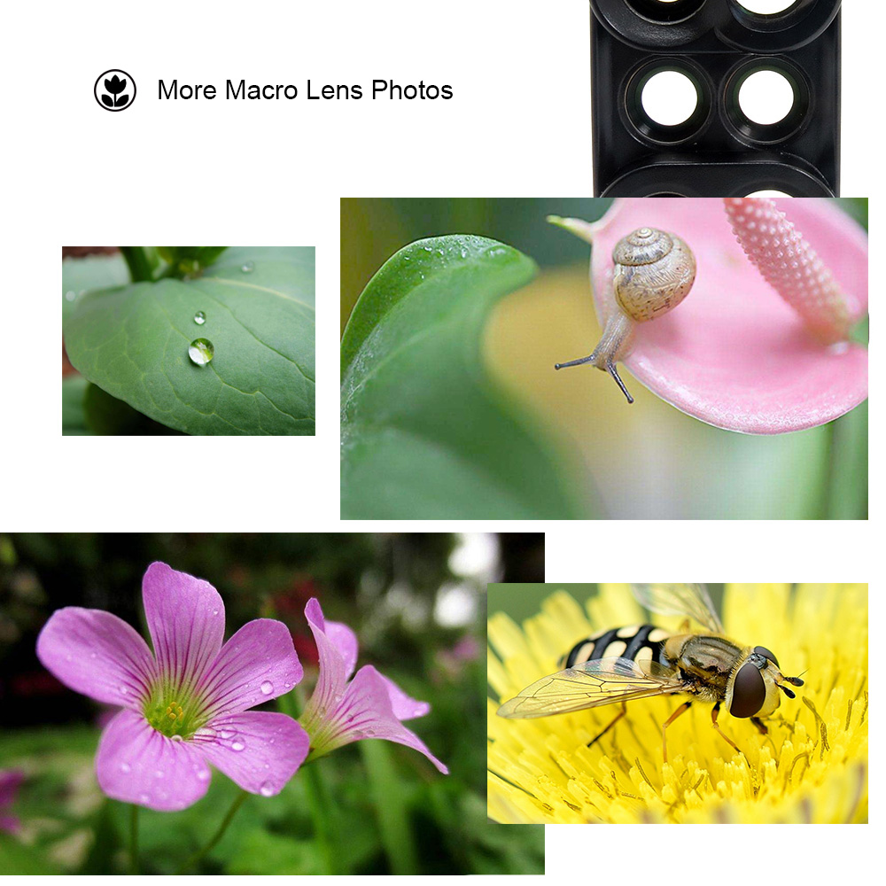 18 New Arrival Dual Camera Lens For iPhone X 8 Plus Fisheye Wide Angle Macro Lens For iPhone 7 Plus Phone Case Telescope Lens 8