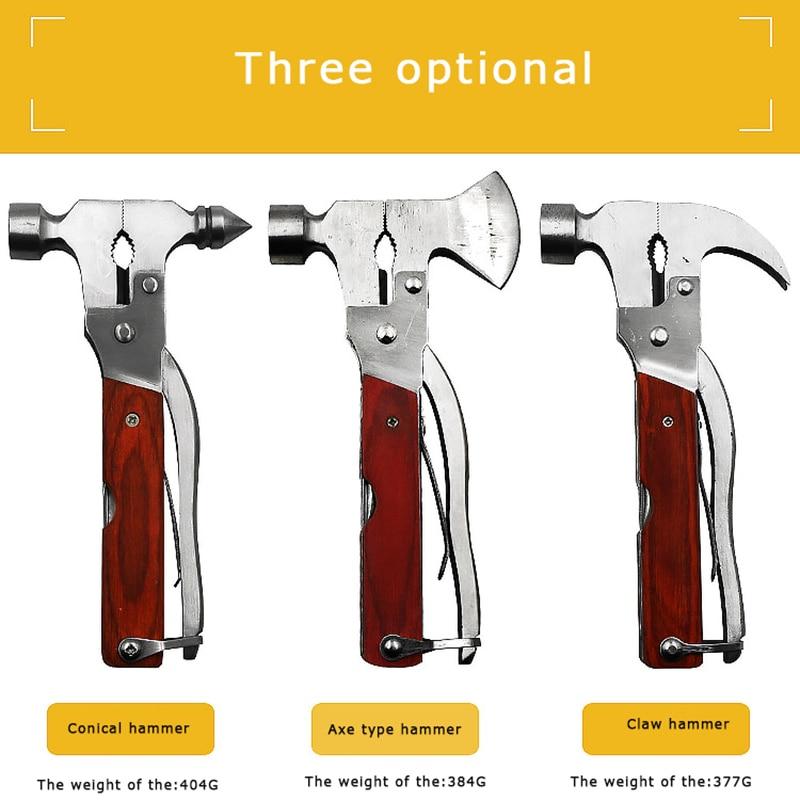 Multi-functional Combination Claw Hammer Universal Car Emergency Hammer Car Life-Saving Safety Hammer Broken Window