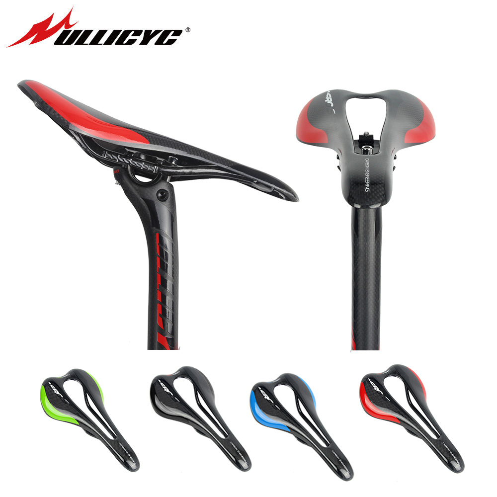 Ullicyc 2019 Hot Sale Top level Mountain Bike 3K Glossy or Matte Comfortable Widened Saddle/Road/MTB Carbon Bicycle Saddle Seat-in Bicycle Saddle from Sports & Entertainment    1