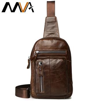 5a71bb130b2f Best Price MVA Genuine Leather Men Leather Chest Bag Men Bag Vintage Crossbody  Bag for Man Shoulder Bags Casual Belt Chest Waist Pack