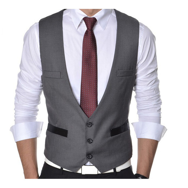 Men Vest Casual Suit Vest Waistcoat Tank Tops Sleeveless Jacket Coat for Men Singlet 3 Colors Vest Men's Clothing