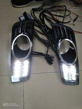 LED กันชนไฟหน้าสำหรับ CRUZE กลางวันอุปกรณ์เสริมรถยนต์ 2009 ~ 2013y DRL สำหรับหัว Light Chevrolet CRUZE หมอก