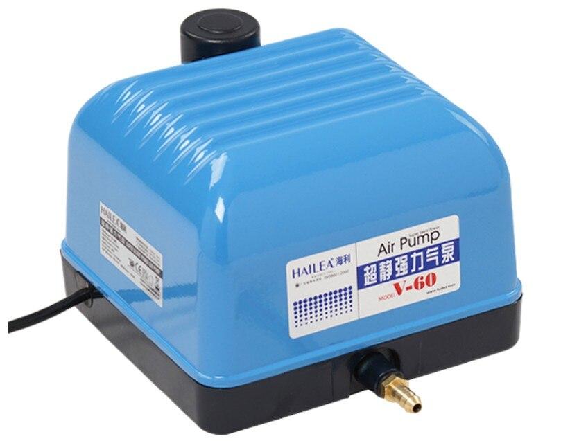 Hailea V 10 20 30 60 membranowa pompa powietrza do akwarium Fish szambo dmuchawy powietrza hydroponika staw sprężarki powietrza w Pompy próżniowe i akcesoria od Dom i ogród na AliExpress - 11.11_Double 11Singles' Day 1