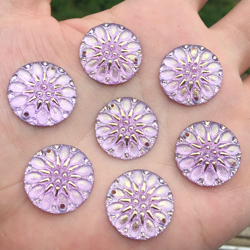 Apparel Sewing & Fabric b102*10 Independent Yusdtsha 150pcs Round Flower Shape Stone Flatback Sewing Rhinestone Jewelry Accessorie Rhinestone Cabochon Home & Garden