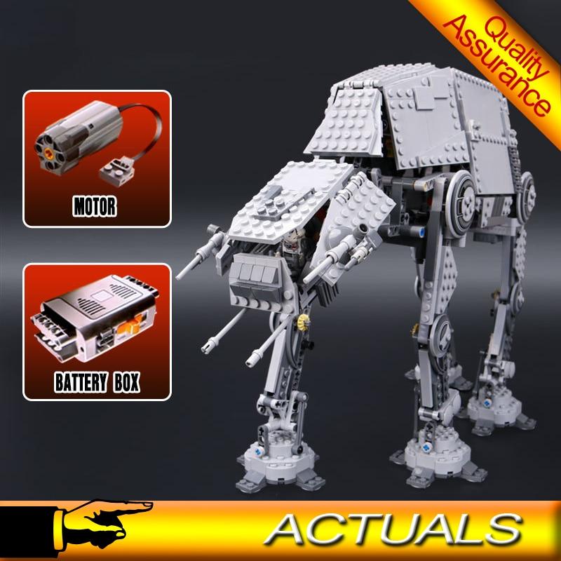 05050 Star Wars Building Blocks Motorized Walking AT-AT Model Bricks Power Functions Toys Compatible Legoed 10178 2