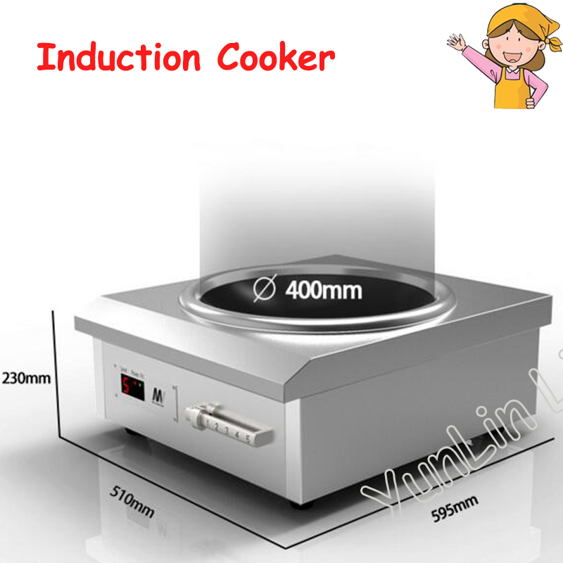Commercial Induction Cooker Concave Cooker High Power Stove Durable Induction Cooker Big Panel