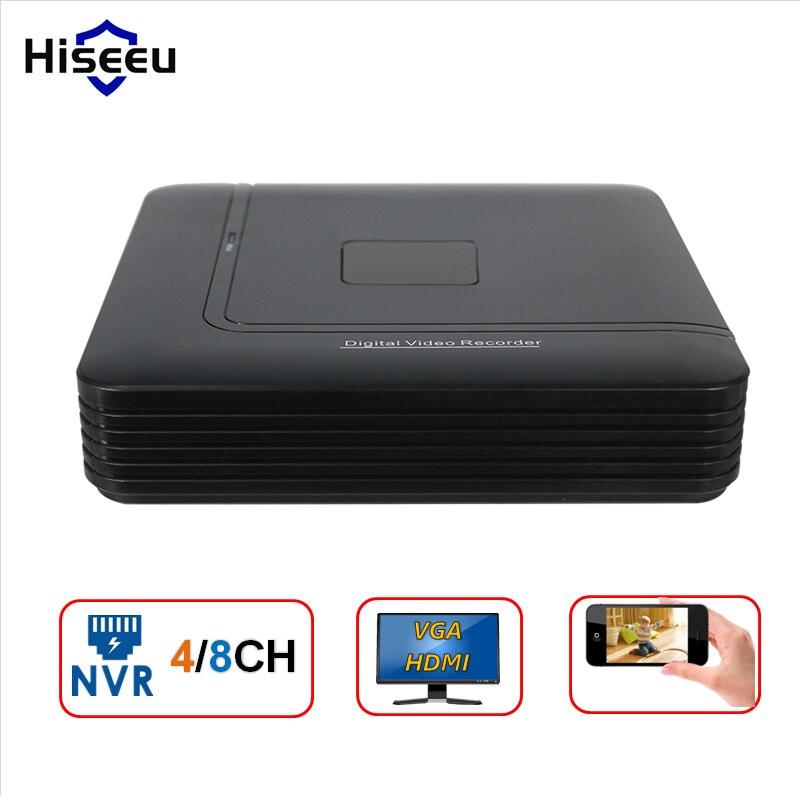 Mini NVR Full HD 4 Channel 8 Channel Security CCTV NVR 1080P 4CH 8CH ONVIF 2.0 For IP Camera System 1080P H.264 Hiseeu система видеонаблюдения anran security 2 hdd 8 nvr onvif 1080p hd h 264 ir ip 8ch hk02w ip2 0 4
