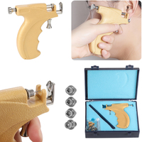 Professional No Pain Steel Safe Ear Nose Body Piercing Pro Steel Gun Tool Kit Instrument Studs Set Ear Nose Navel Jewelry Tool