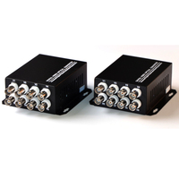 1 Pair 2 Pieces/lot 8 Channel Video Optical Converter 8V1D Fiber Optic Video Optical Transmitter & Receiver 1CH +RS485 Data
