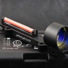 Ружья легкая оптика из красного волокна 1х красная точка зрения прицел подходит ребра рельс Охота Стрельба M1270