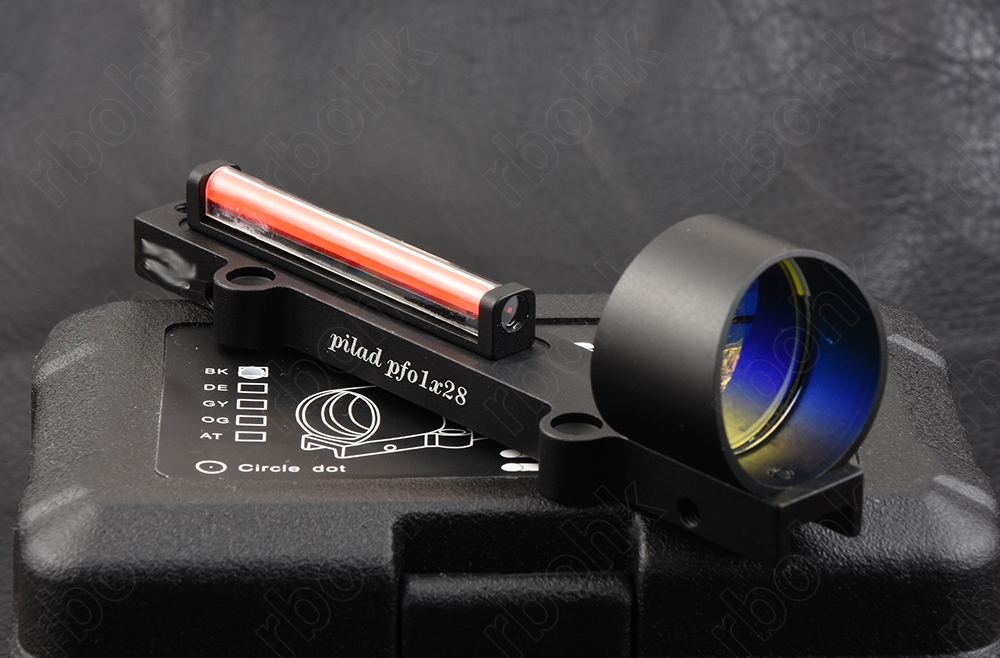 Shotguns Lightweight Red Fiber Optics 1x Red Dot Sight Scope Fit Rib Rail Hunting Shooting M1270