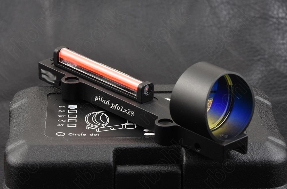 Shotguns Lightweight Red Fiber Optics 1x Red Dot Sight Scope Fit Rib Rail Hunting Shooting M1270