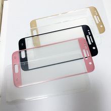Full Screen Glass For Samsung Galaxy S7 S7edge S8 Screen Protector S6 edge Plus Tempered Glass Pink Blue Silver Gold Clear B W