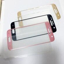 Vetro a schermo intero per Samsung Galaxy S7 S7edge S8 pellicola salvaschermo S6 edge Plus vetro temperato rosa blu argento oro trasparente B W