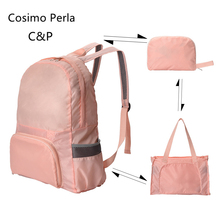 Nylon Foldable Women Travel Bags Short Trip Portable Shopping Bag duffle bag backpack Multifuction GYM Lightweight Hiking Bags