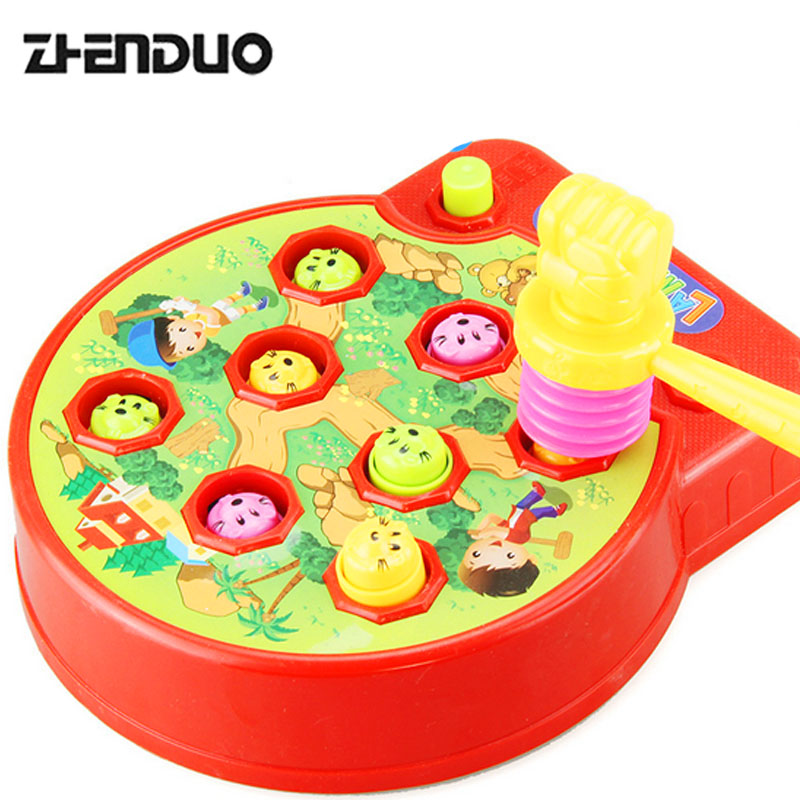 ZhenDuo Kids Electric Play Hamster Music Toys Plastic Hammer Game Family Whack-a-Mole kn ...