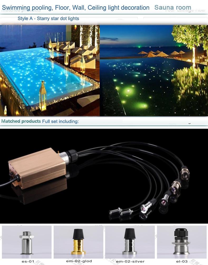 ip68 mała wpuszczana światłowodowa lampa basenowa - Oświetlenie komercyjne - Zdjęcie 3