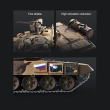 1:16 Upgraded Plastic RC Tank Battle Tiger Russian T90 Remote Control Tank Model Tracks Sprockets 3938 Fight Tank Gifts for Kids