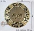 180 mm Blossoming antigo chinês Ming e Qing móveis maçaneta da porta maçaneta da porta cobre peça redonda DB-208B