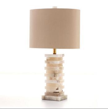Lámpara de mesa LED TUDA lámpara de mesa de mármol artificial moderna lámpara de mesa de hierro forjado para sala de estar lámpara de mesa E27 110V 220V