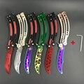 CS IR mariposa en formación Karambit de cuchillo de acero inoxidable cuchillo plegable de la lámina del cuchillo de la mariposa regalo + destornillador muchos estilos