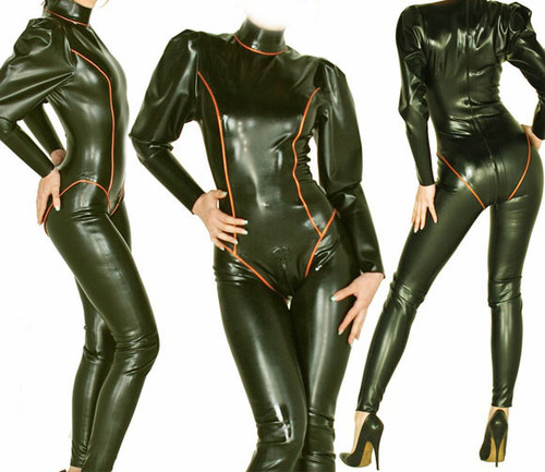 New 100% Latex Rubber Ganzanzug Bodysuit Queen Tights Catsuit Suit Size XXS-XXL