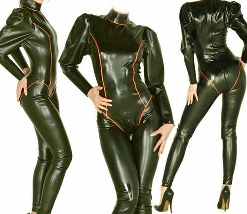 Nouveau 100% Latex caoutchouc Ganzanzug body reine collants costume costume taille XXS-XXL